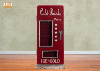 Beverage Machine Key Box Decorative Wooden Cabinet MDF Key Holders Wood Wall Key Box Red Color