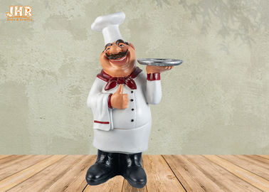 Poly Chef Tabletop Statue Polyresin Statue Figurine Resin French Chef Sculpture